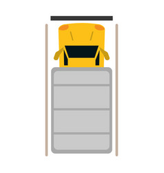 truck top view parking lot vector image