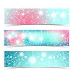 banner set with multiple lines vector image
