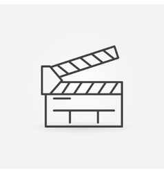 Clapboard line icon vector