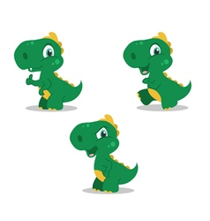 Cute little dinosaurs vector