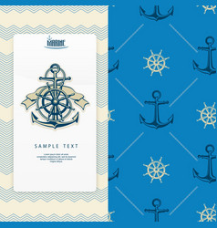 nautical banner vector image vector image