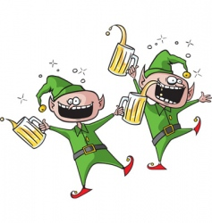 party elves vector image vector image