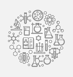 science and chemistry line symbol vector image