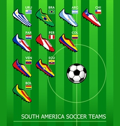South American soccer teams vector image vector image