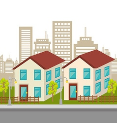 Urban buildings graphic vector image vector image