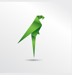 origami parrot vector image vector image