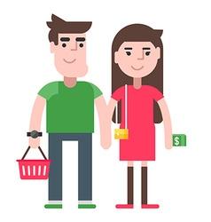 A couple shopping vector