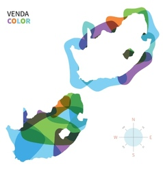 Abstract color map of Venda vector
