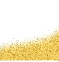 Abstract gold dust glitter background vector image