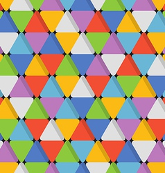 Abstract seamless pattern with color triangles vector image