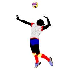 al 0403 volleyball 01 vector image
