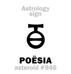 astrology asteroid poesia vector image