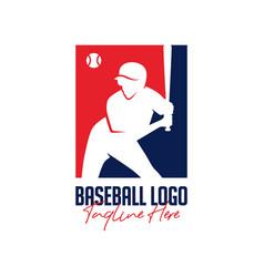 baseball sports inspiration logo design vector image