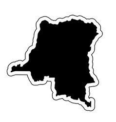 black silhouette of the country democratic vector image