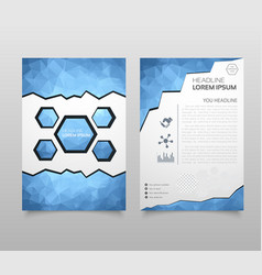 business brochure template layout cover design vector image