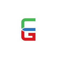 cg letter logo vector image