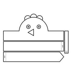 chicken coloring headband vector image