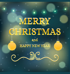 christmas banner background card with text vector image