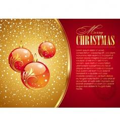 Christmas card with holidays toys vector