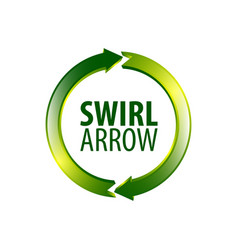 circle swirl arrow logo concept design symbol vector image