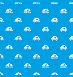 cloud data pattern seamless blue vector image