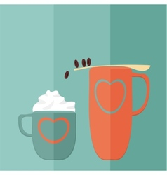 Coffee Game Flat vector