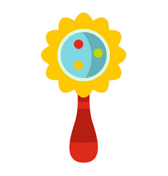 Colorful baby rattle icon isolated vector