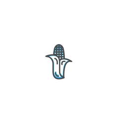 corn icon design gastronomy icon vector image