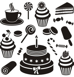 Desserts and sweets icon vector
