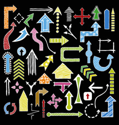 doodle arrows collection vector image