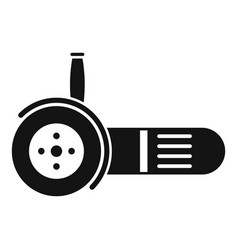 Electric angle grinder icon simple style vector
