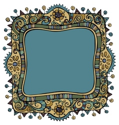 Fantasy decorative frame background vector image