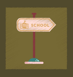 Flat shading style icon school sign vector