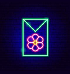 flower seeds neon sign vector image