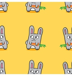 Funny cartoon bunnies seamless pattern vector