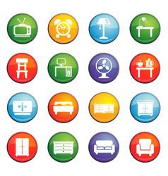 Furniture icon set vector
