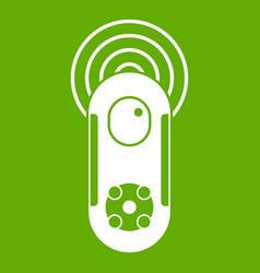 Game joystick icon green vector