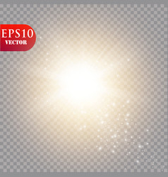glow light effect star burst with sparklessun vector image
