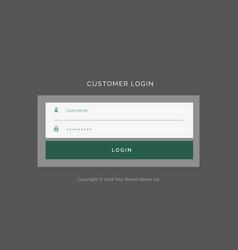 gray login form ui design template vector image
