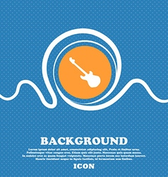 Guitar icon sign Blue and white abstract vector image