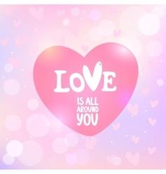 heart with an inscription vector image