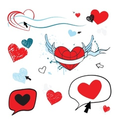 Hearts set Design element vector