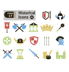 Histoical icons vector image