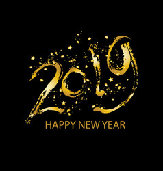holiday new year card 2019 vector image