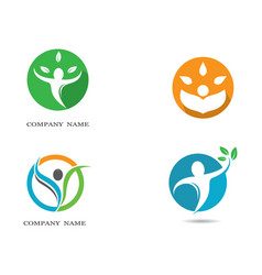 Human health symbol design vector