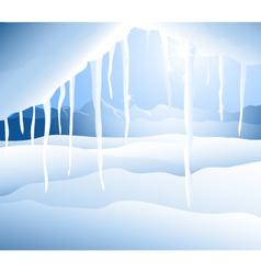 Iceberg and winter landscape vector