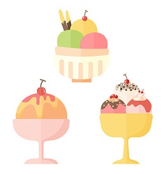 Icon ice cream vector