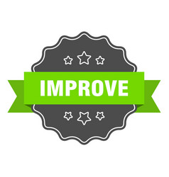 Improve isolated seal improve green label improve vector
