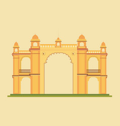 Indian monument design vector