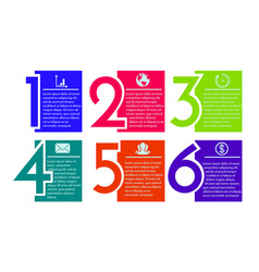 infographic design template with numbers six vector image